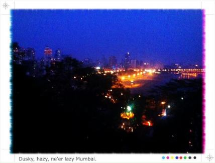 Mumbai glitters at night, but as you'd expect from any megacity: Glitter and grit coexist, and they're not always a pretty pair.